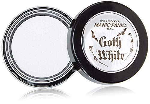 Celebrity Black Face Halloween Costume (Manic Panic Goth White Cream-to-Powder Foundation - Full Coverage Foundation With Velvety Consistency, for Face, Eye Shadow Base, White Eyeshadow, Concealer to Hide Freckles, Blemishes,)