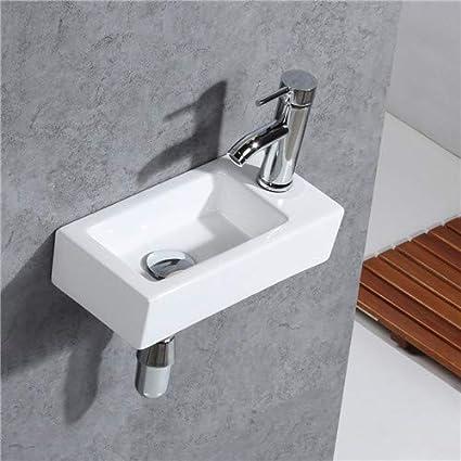 Gimify Lave Main Toilette Wc Petit Lavabo Angle Robintterie Et Siphone Inclus