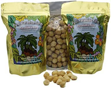 Premium Whole Macadamia Nuts (pesticide-free) from our family farm on the Big Island, Hawaii (Salted, 1 lb)