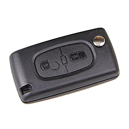 metebu (TM) plegable de 2 botones Funda Mando LLave Carcasa ...
