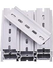 Keadic 25Pcs DIN Rail Slotted Aluminum RoHS Assortment Kit, 4 6 8 9.8 12 Inches Long 35mm Wide 7.5mm High