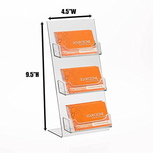Source One Premium Counter Top Business Card Holder/Gift Card Display (1 Pack, 3 Pocket) by SourceOne (Image #1)