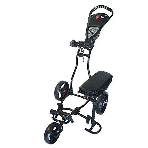 Spider 3 Wheel Golf Cart with Seat (Black)