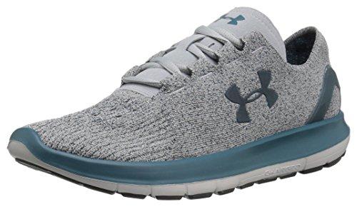 Under Armour Women's Speedform Slingride TRI Running Shoe, Overcast Glacier Gray/Marlin Blue, Overcast Gray (943)/Glacier Gray