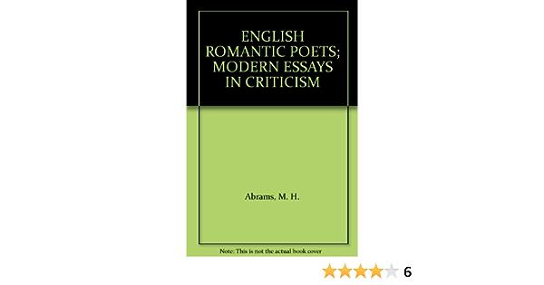 English romantic poets modern essays criticism market research paper topics