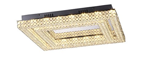 Collection Chrome Flush - Lumenno Midori Collection Chrome/Crystal Dimmable LED Square Flush Mount