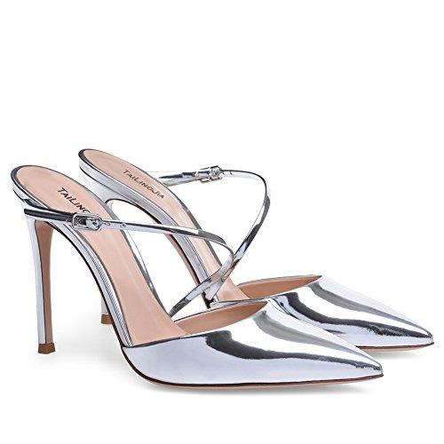 XUE Women's Shoes PU Summer Comfort Sandals Walking Shoes Stiletto Heel Pointed Heel Wedding/Party & Evening/Dress Sandals/Slippers & Flip-Flops Formal Business Work Wedding A fqLJd7W57
