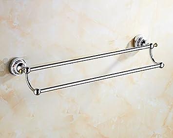 LVLIDAN Soporte Colgador de Toallas de baño Ferroviario Europeo Toallero Simple 62cm: Amazon.es: Hogar
