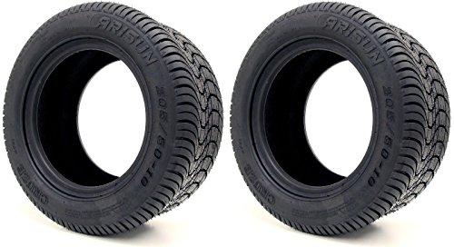 Arisun 205/50-10 DOT Street Tires for EZGO, Club Car, Yamaha Golf Carts (205/50-10, Set of 2 Tires)