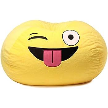 Amazon Com Gomoji Emoji Silly Bean Bag Chair Kitchen
