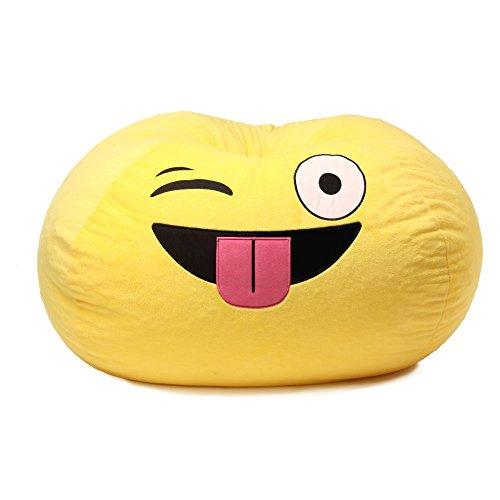 GoMoji Emoji Silly Bean Bag Chair