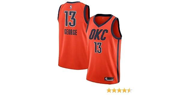 895bd1c853e8c Majestic Athletic Paul George #13 Oklahoma City Thunder 2018-19 Swingman  Men's Jersey Orange