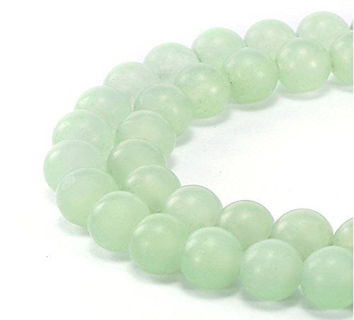1 Strand Top Quality Natural New Jade Serpentine Gemstone 6mm Round Loose Stone Beads (~ 58-62pcs) for Jewelry Craft Making GF11-6
