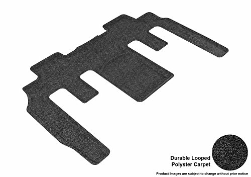 3D MAXpider Second Row Custom Fit All-Weather Floor Mat for Select Buick Enclave /Chevrolet Traverse /GMC Acadia Models - Classic Carpet  ()