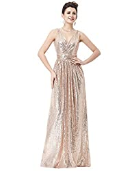 Sleeveless Maxi Sequin Gown