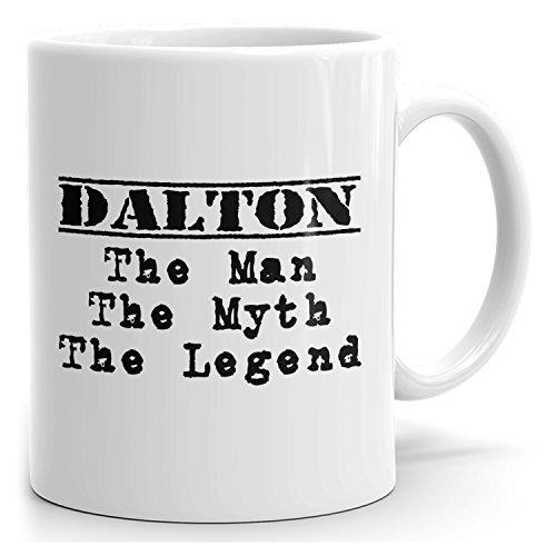 Dalton tea mug - The Man The Myth The Legend - at Home or in the Office - 15oz White Mug