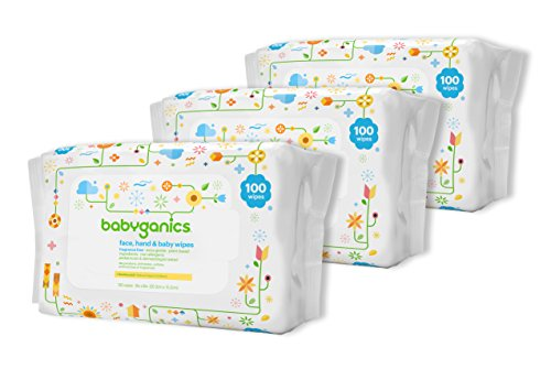 Babyganics Face, Hand & Baby Wipes, Fragrance Free, 300 ct,  Packaging May Vary