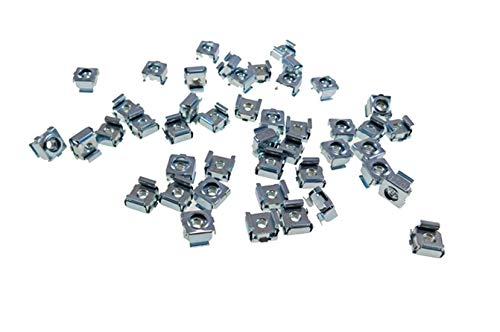 3//8 Panel Hole Size BFC7931-632 50 Pack #6-32 Self-Retaining Cage Nuts