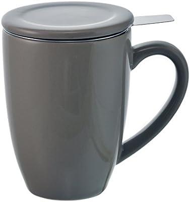 Amazon.com   GROSCHE Kassel Tea Infuser Mug/Teacup with Stainless Steel Infuser, 330ml/11.2 oz, grey: Teapots