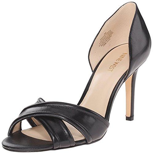 Nine West Women's Fortunata Leather Heeled Sandal, Black, 41 B(M) EU/8 B(M) UK