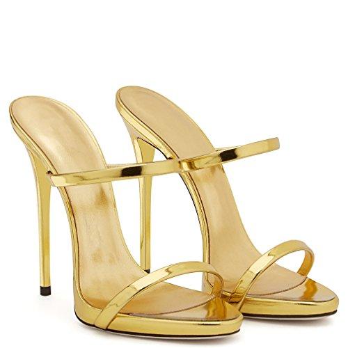 Talon Chaussures Or Lucky Rose 46 Talons Stiletto Court Metallic Femmes Blink Bout Ouvert Pantoufles Eu34 Sandales a Classique Clover Hauts pBxpqSwz