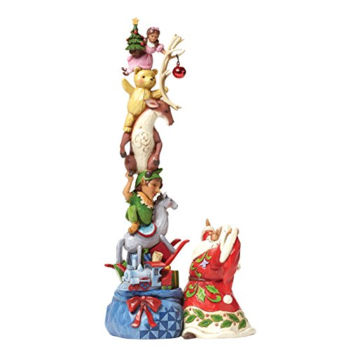 Jim Shore for Enesco Heartwood Creek Santa with Stacked Toys in Bag Figurine, 12.25