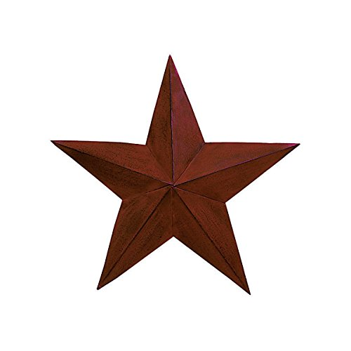 The Country House Collection 18 Inch Burgundy Barn Star (Star Burgundy)