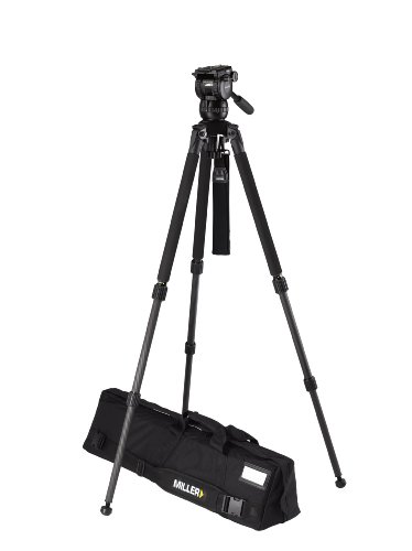 Miller 1876 Compass 12 Solo DV 2 A Tripod (Black/Silver) by Miller Camera Support LLC USA