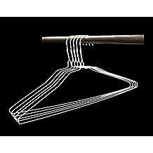 Wire Hangers in Bulk - 100 White Metal Hangers - 18 Inch 14.5 Gauge Standard Coated Steel Hangers (100)
