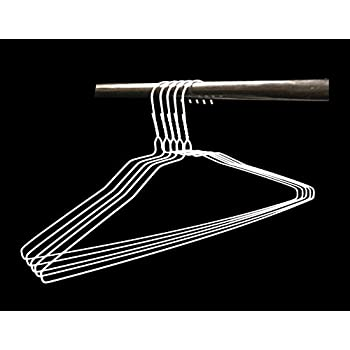 Amazon Com Wire Hangers In Bulk 100 White Metal Hangers 18 Inch