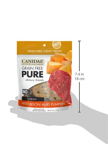 CANIDAE-Grain-Free-PURE-Chewy-Dog-Treats-with-Bison-Pumpkin-6-oz