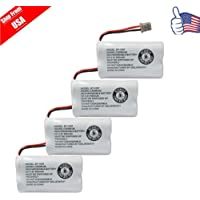 Replacement Battery for Uniden DECT 6.0 BT1007 BT-1007 Cordless Phone 4-PACK USA