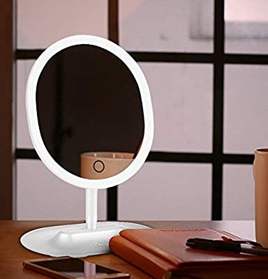 LivingPro Vanity Makeup Mirror with [Upgraded] Anti-Glare LED Lighting Controlled by Dimmable Touch Screen Sensor with Bonus Detachable 10X Spot Mirror for Details