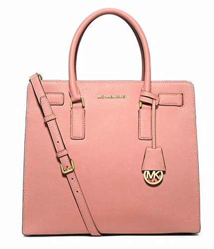 f01b4427023c Amazon.com: MICHAEL MICHAEL KORS Dillon Large Saffiano Leather Satchel  (Pale Pink): Shoes