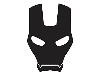 Iron man face mask 3 vinyl decal