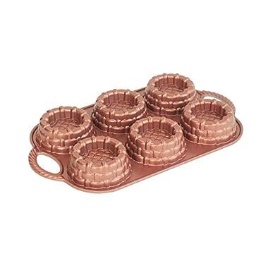 Nordic Ware Cast-Aluminum Nonstick Baking Pan, Shortcake Baskets
