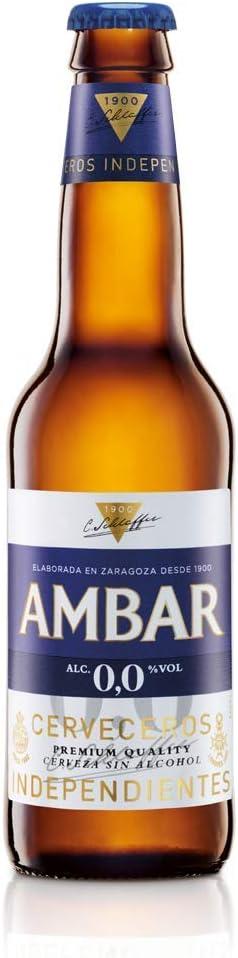 Cerveza Ambar 0.0 25 cl pack 24 botellines