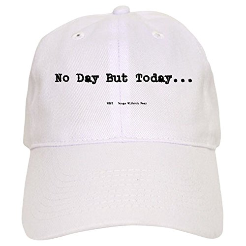 CafePress No Day But Today Baseball Cap with Adjustable Closure, Unique Printed Baseball Hat White