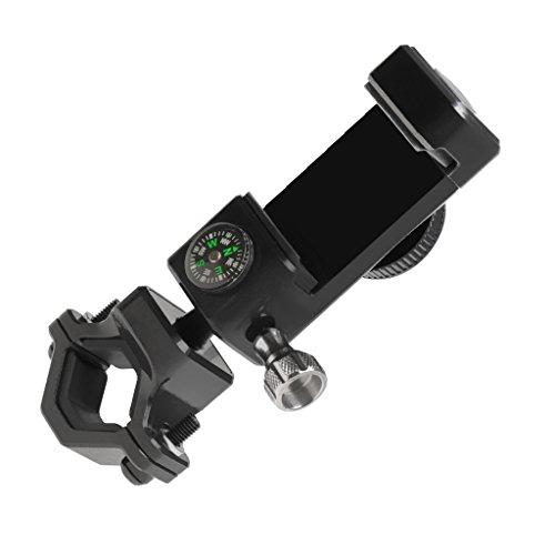 Fityle 自転車電話ホルダー ユニバーサル 調整可能 携帯電話/GPS/マウントホルダー  コンパス付き 全2色