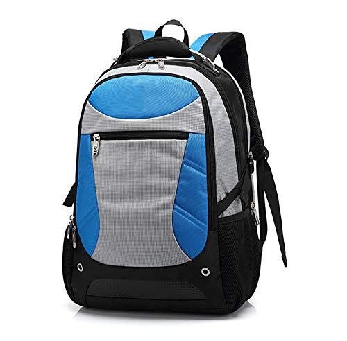 WY-AYNG Lässige Outdoor-Reisetasche, Bergsteigen Lernen   Geschäftsreise Rucksack Nylongewebe, Wasserdicht, Atmungsaktiv,Blau