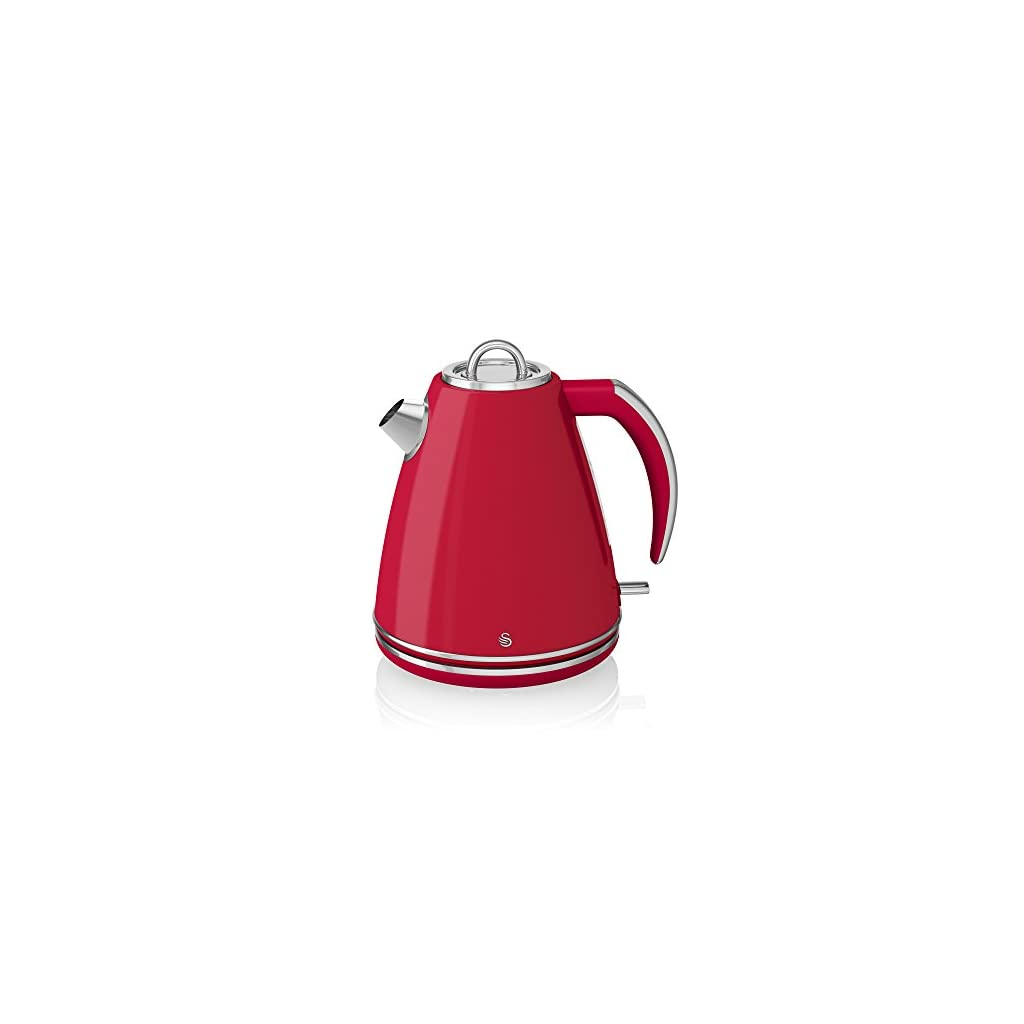 Swan Jug Kettle, 1.5 Litre, 3000 W, Red