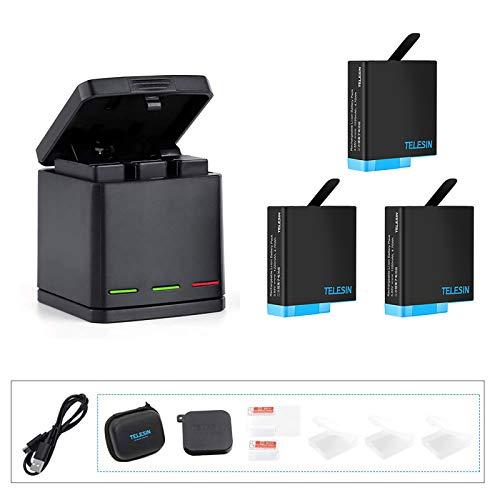 Kit 3 baterias estacion carga USB y mas Gopro Hero 8 7 black