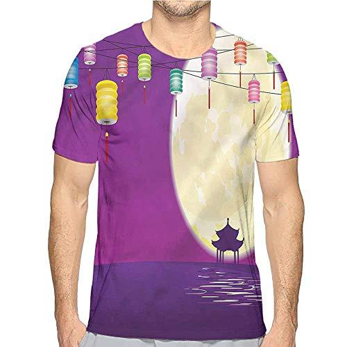 t Shirt Printer Lantern,Chinese Pavillion Moon Junior t Shirt XXL
