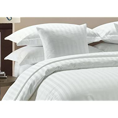 Comfort Beddings Hotel Collection 100% Egyptian Cotton - 600 Thread Count, 4 Piece Sheet Set, Queen - White