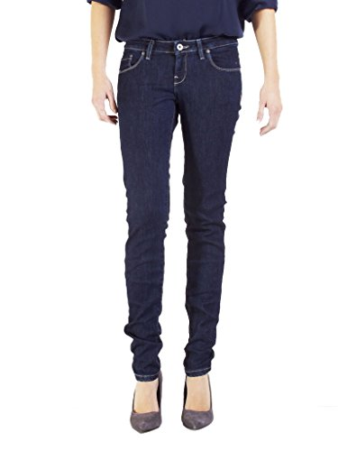 120 Azul Carrera Tejido Lavado Extensible De Mujer 777 Estilo Denim Ajuste Pitillo Oscuro Cintura Jeans Ceñido Baja Para fraqTxw0Of