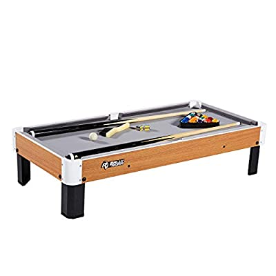 """Tabletop Pool Table Set and Accessories, 40"""" x 20"""" x 9"""" - Mini, Travel-Size Billiard Tables, Balls, Cues, and Rack - Fun, Portable Family Games for Kids, Parties, Camping, Road Trips"""