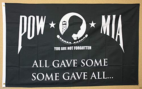 Usa Premium Store Pow Mia Flag 3X5 Banner All Gave Some Some Gave All Patriotic P O W  M I A