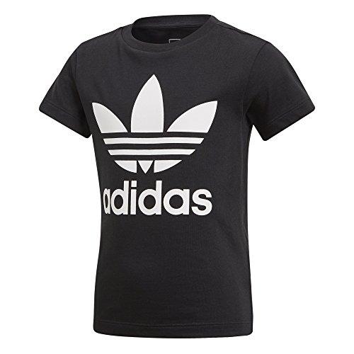 Black Tee L little Kids Trefoil Adidas white Originals Little xnwvPTIXH