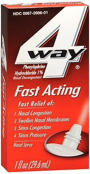 4 Way Fast Acting Nasal Spray - 1 oz, Pack of 4 by 4-Way