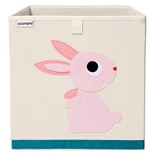 DODYMPS Foldable Animal Toy Storage Bins/Cube/Box/Chest/Organizer for Kids & Nursery, 13 inch (Rabbit)